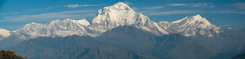Вид на массив Аннапурны.  Базовый лагерь Аннапурны + сафари Читвана. Непал, Hikeup
