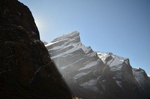 Вид из МВС.  Світанок біля підніжжя Аннапурни. Непал, Hikeup