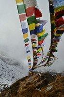 Молитвенные флаги в АВС.  Світанок біля підніжжя Аннапурни. Непал, Hikeup