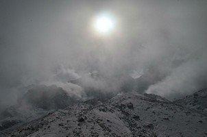 Облака в АВС.  Рассвет у подножья Аннапурны, Hikeup