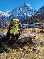 Базовый лагерь Аннапурны, отдых.  Світанок біля підніжжя Аннапурни. Непал, Hikeup