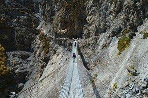 Подвесной мост.  Вокруг Аннапурны. Непал - Перевал Торонг-Ла, Hikeup