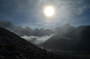 Вид с перевала Торонг Ла.  Навколо Аннапурни. Непал - Перевал Торонг-Ла, Hikeup