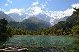 Озеро по дороге в Навал.  Вокруг Аннапурны. Непал - Перевал Торонг-Ла, Hikeup