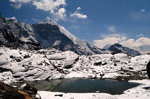 Озеро на перевале Чо Ла.  Чарующий и таинственный Непал. Далеко и ещё дальше., Hikeup