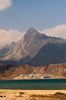 Вид на селение Гокио с озера.  Чарующий и таинственный Непал. Далеко и ещё дальше., Hikeup