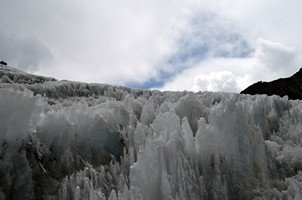 Ледник перевала Чо Ла.  Чарующий и таинственный Непал. Далеко и ещё дальше., Hikeup