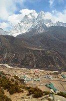 Ама-Даблам над Дингбоче.  Чарующий и таинственный Непал. Далеко и ещё дальше., Hikeup