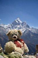 Медвежонок Федя на фоне Ама-Даблама.  Базовый лагерь Эвереста и озера Гокио, Hikeup