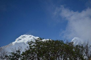 Вид на Аннапурну Южную и Химчули.  Тибетский Новый год и Марди Химал трек, Hikeup