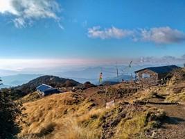 Промежуточный лагерь, раннее утро. Бабл дхара.  Марди Химал трек и рафтинг по Белой воде, Hikeup