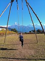 Качели в Австралийском лагере.  Марді Хімал трек та рафтинг по Білій воді. Непал, Hikeup