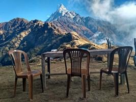 В верхнем лагере Марди Химал.  Марді Хімал трек та рафтинг по Білій воді. Непал, Hikeup