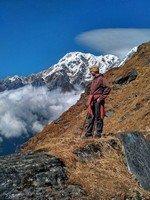 Отдых на фоне снежных вершин Аннапурны.  От Марди до Аннапурны. Непал, Hikeup