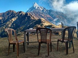 В верхнем лагере Марди Химал.  От Марди до Аннапурны. Непал, Hikeup