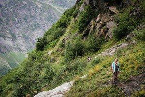 Спуск от ледника Ушбы.  Сванский хребет и другие приключения. Грузия. Сванетия, Hikeup
