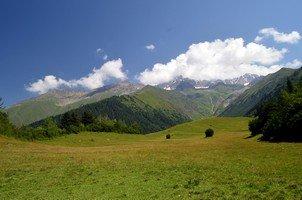 Альпийский луг рядом с Местией.  Сванский хребет и другие приключения. Грузия. Сванетия, Hikeup