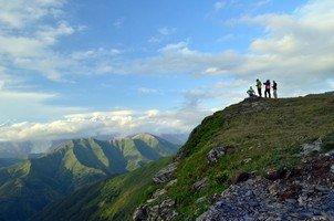 На перевале Латпари..  Сванский хребет и другие приключения. Грузия. Сванетия, Hikeup