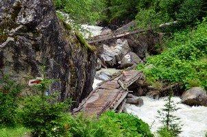 Мост через Долру.  Сванский хребет и другие приключения. Грузия. Сванетия, Hikeup