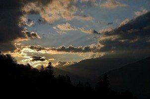 Закат.  Поход по грузинскому Кавказу. Верхняя Сванетия, Hikeup