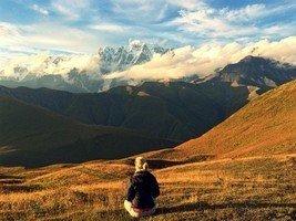 Безенги в закатных лучах.  Поход по грузинскому Кавказу. Верхняя Сванетия, Hikeup