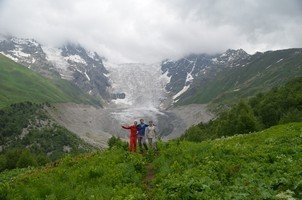 С ледником Тетнульди.  Поход по грузинскому Кавказу. Верхняя Сванетия, Hikeup