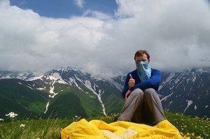 Над перевалом Загаро.  Поход по грузинскому Кавказу. Верхняя Сванетия. Грузия, Hikeup