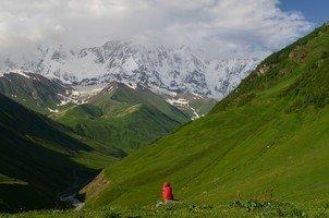 Стена Шхары.  Поход по грузинскому Кавказу. Верхняя Сванетия, Hikeup
