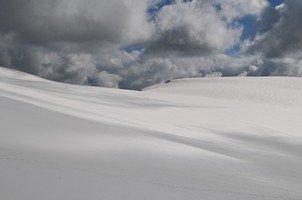 Снежное поле.  Восхождение на «Снежную королеву» г. Тетнульди. Грузия, Hikeup