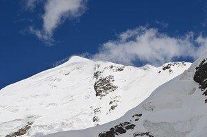 Вид на вершину Тетнульда.  Восхождение на «Снежную королеву» г. Тетнульди. Грузия, Hikeup