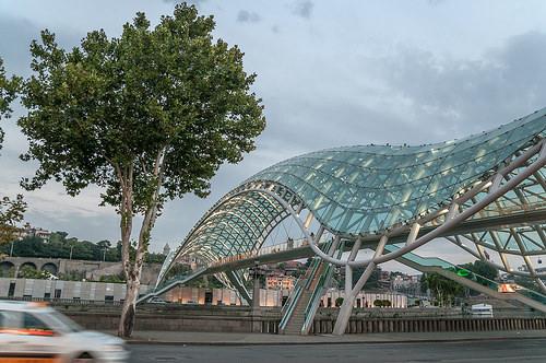 Новый мост в Тбилиси