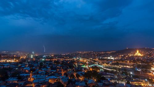 Ночная панорама Тбилиси