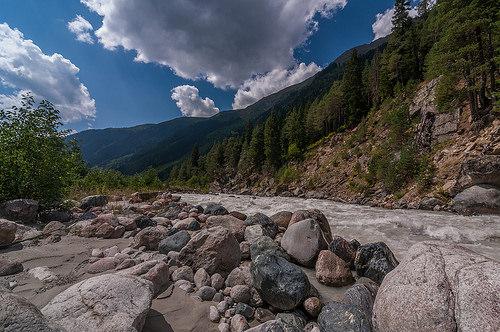 Горная река в Сванетии
