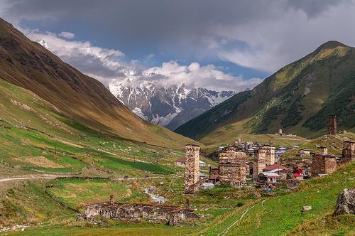 Ушгули и гора Шхара
