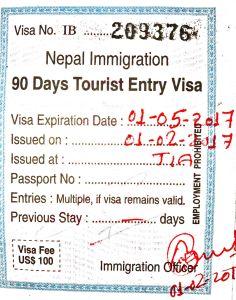Получение непальской визы